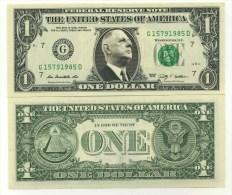 CHARLES DE GAULLE VRAI BILLET de 1 DOLLAR US ! Collection Pr�sident Homme d'Etat G�n�ral