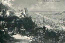 GERMANY - Heidelberg Blick Von Der Terrasse - 1910 Sinzheim Postmarks - Heidelberg