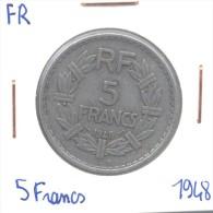5 Francs Lavrillier  France 1948 Aluminium - Frankrijk