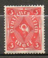 ALLEMAGNE  3m Vermillon 1922-23 N °206 - Neufs