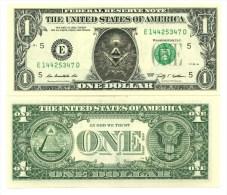 FRANC-MACON VRAI BILLET de 1 DOLLAR US ! FREEMASON Collection Franc-Ma�onnerie Ma�onnique