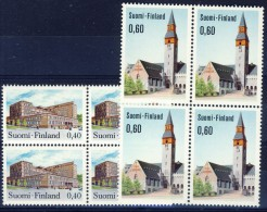 ##Finland 1973. Blocs Of 4. Michel 718-19x. MNH(**) - Finlande