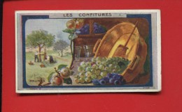 PLANTEUR DE CAIFFA CHROMO VERGER CONFITURE PRUNES RECETTE AU DOS BASSINE CUIVRE - Trade Cards
