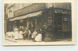 DIEPPE  - Café Restaurant Du GymnaseN°40 ? (carte Photo Adresse à Vérifier) - Dieppe