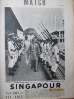 Singapour  Sentinelle Des Indes    Negri Sembilan 1939 - Old Paper