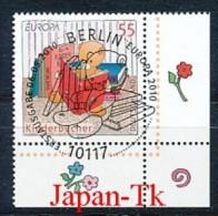 GERMANY  Mi. Nr. 2796  Europa - Kinderbücher -ESST- Eckrand Unten Rechts - Used - BRD