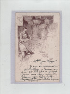 Paris Village Suisse Rare 1900 Tresseur De Paille - France