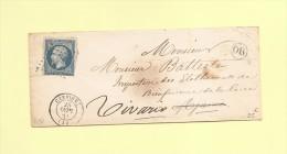 Cervione - 19 - Corse - Courrier Reexpedie A Vivario - Sans Correspondance - Marcofilia (sobres)