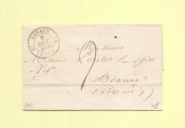 Gevrey - 20 - Cote D´Or - 9 Dec 1831 - Marcophilie (Lettres)
