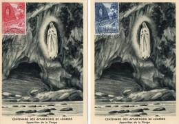 TB 165 - CP - Carte - Centenaire Des Apparitions De LOURDES - OB Poste Du Vatican 10.06.1958 - Cartes-Maximum (CM)