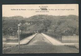 Vallée De La Meuse. Le Tablier Du Pont De Hermalle, Que Les Troupes Belges Firent Sauter En Août 1914. - Engis