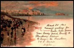 NAPOLI : Via Caracciolo 1901 - Litho - Napoli