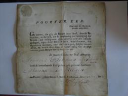 1803 City Passport For Amsterdam, Holland !  Reisepass Passeport Passaporte - Historical Documents