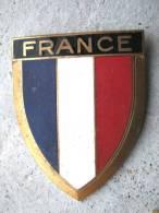 ANCIENNE PLAQUE DE SCOOTER EMAILLEE ANNEE 1950 FRANCE EXCELLENT ETAT AUCUNS ECLATS DRAGO PARIS