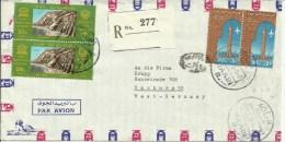 UAR 1966  Registered Air Mail Letter To Hamburg, Germany - Cartas