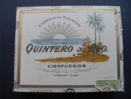 SCATOLA SIGARI QUINTERO Y HNO CINFUEGOS CUBA (VUOTA) - Boites à Tabac Vides