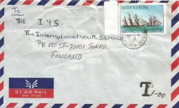 Sierra Leone 1985 Masguraka Ship 50c 1985 Taxed Underfranked Cover - Sierra Leone (1961-...)