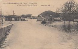 1914 - LES INONDATIONS DE PARIS - Janvier 1910 - L'Octroi Du Point Du Jour - Überschwemmungen