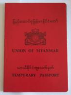 Myanmar / Birma Temp Passport !  Reisepass Passeport Passaporte - Historical Documents