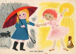 Voor Bet Kind - Carte Hollandaise - Illustrateur à Identifier - Scan Recto/verso - Illustrateurs & Photographes