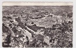 (RECTO / VERSO) VILLEFRANCHE DE ROUERGUE EN 1963 - N°1 - VUE GENERALE - FORMAT CPA - Villefranche De Rouergue