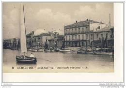 GRAU DU ROI Hotel Belle-vue Rive Gauche Et Le Canal Cpa Bon Etat - Non Classés