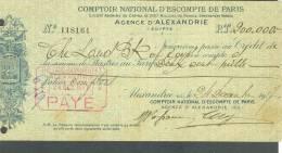 EGYPT - Documents - Checks - Bills - - Non Classificati