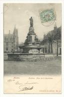 Cp, 58, Nevers, Fontaine, Place De La République, Voyagée 1904 - Nevers