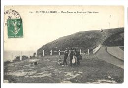 Cp, 76, Sainte-Adresse, Plate-Forme Au Boulevard Félix-Faure, Voyagée 1914 - Sainte Adresse