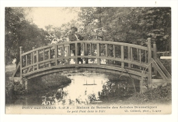 Cp, 77, Pont Aux Dames, Maison De Retraite Des Artistes Dramatiques, Le Petit Pont Dans Le Parc - Altri Comuni