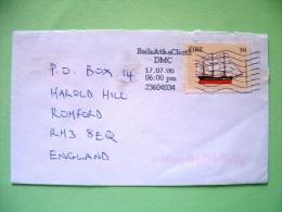 Ireland 2000 Cover To England - Emigrant Ship (Scott 1227 = 1.5 $) - 1949-... Repubblica D'Irlanda