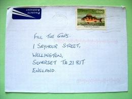 Ireland 2001 Cover To England - Fish - Perch Perca - 1949-... Repubblica D'Irlanda