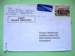 Ireland 2001 Cover To Switzerland - Car Race Rally - Hillman Imp - Tulip Rally - 1949-... Repubblica D'Irlanda