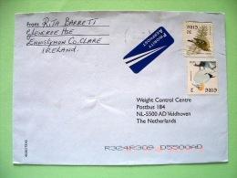 Ireland 2002 Cover To Holland - Birds - Goldcrest (Scott 1113 = 1.25 $) - Gannet - 1949-... Repubblica D'Irlanda