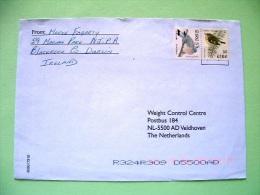 Ireland 2001 Cover To Holland - Goldcrest - Pigeon - Bird Pair From Booklet - Scott 1113 A = 2.25 $ - 1949-... Repubblica D'Irlanda
