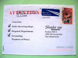 Ireland 2001 Cover To Holland - Music - Flute - 1949-... Repubblica D'Irlanda