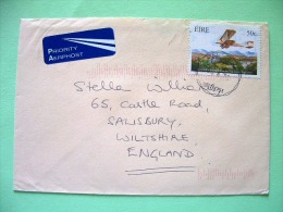 Ireland 2003 Cover To England - Plane - John Alcock Transatlantic Flight - Scott 1488 = 1.5 $ - 1949-... Repubblica D'Irlanda