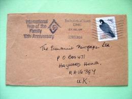 Ireland 2004 Cover To England - Bird - Falcon - Scott 1494 = 1.5 $ - Year Of The Family Slogan - 1949-... Repubblica D'Irlanda