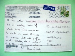 "Ireland 2006 Postcard ""Skellig Rocks - Kerry - Multiview - Puffins"" To England - Plant Flowers Navelwort - Scott 1652... - 1949-... Repubblica D'Irlanda"