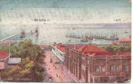 Colombo The Harbour Wide Wide World  Series 1 Raphael Tuck & Sons Oilette No 7481 Stamp Removed  Used  Both Sides Shown - Sri Lanka (Ceylon)