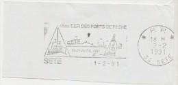 FRANCE. FRAGMENT POSTMARK. SETE. CHALLENGE OF FISHING PORT. 1991 - Marcofilia (sobres)