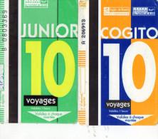 TICKETS BUS FRANCE  ROUEN  Cogito/Junior 10 Voyages (Lot de 2)
