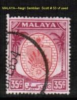 MALAYA---Negri Sembilan    Scott  # 53 VF USED - Negri Sembilan