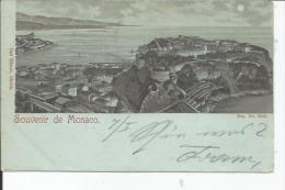Monaco  Souvenir Litho  1898 - Monaco