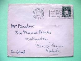 Ireland 1937 Cover To England - Map - Briefe U. Dokumente