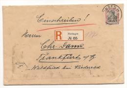 DR Einschreiben Brief Nürtingen 7.3.12 N. Waldfried Niederrad EF Mi.90I (5215) - Lettres & Documents