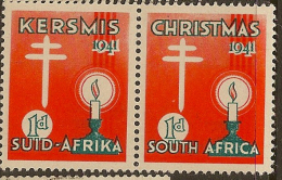 SOUTH AFRICA 1941 TB Seal H Pair HM #CM724 - South Africa (...-1961)
