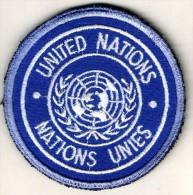 OPEX GENDARMERIE -  Générique Brodé épaule UNITED NATIONS/NATIONS UNIES - Policia