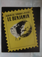 ALBUM - TIMBRES POSTE - LE BENJAMIN - YVERT & TELLIER - AMIENS - 52 PAGES - VIERGE - Grand Format, Fond Blanc