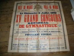 VILLE DE MEAUX : XV� GRAND CONCOURS REGIONAL DE GYMNASTIQUE 1899